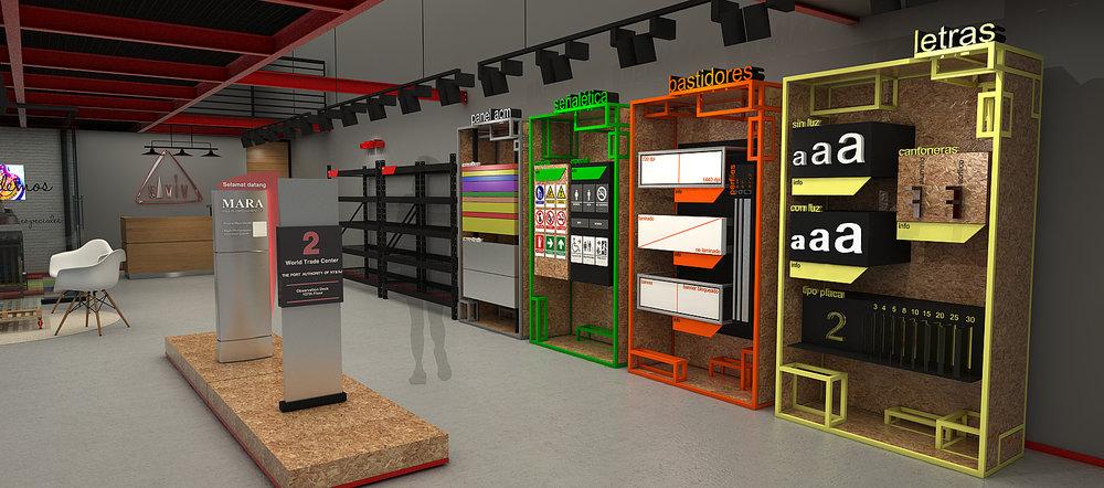 Diseño y proyección formato punto de venta productos publicitarios
