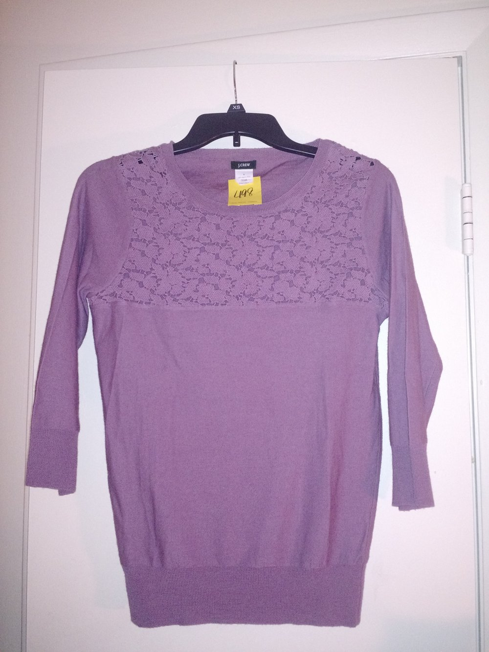 Another 3/4 top. I love the lace detailing and of course it's my favorite color