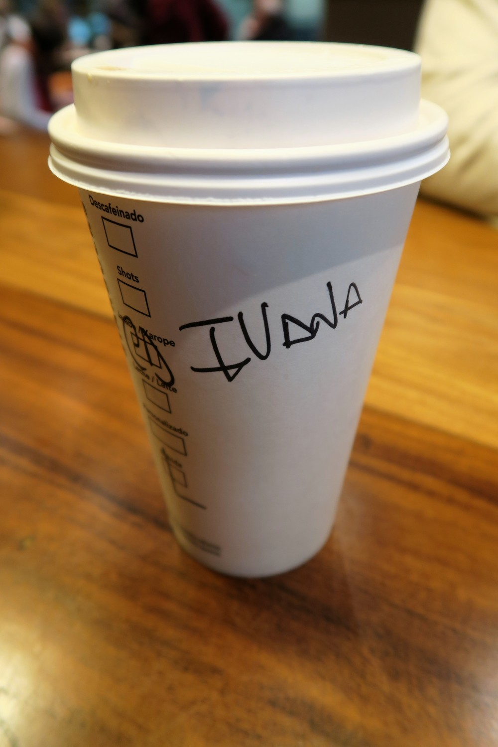 Starbucks always gets my name wrong - Buenos Aires