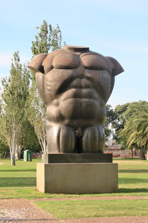 Torso Masculino Desnudo at Parque Thays - Buenos Aires