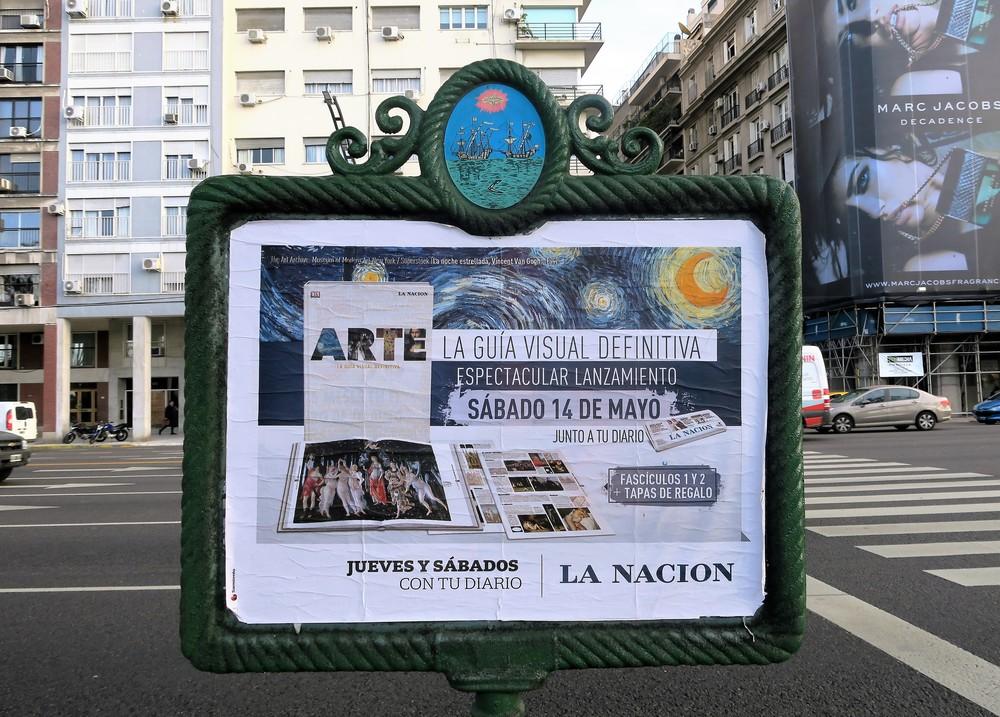 Buenos Aires Sidewalk Billboards