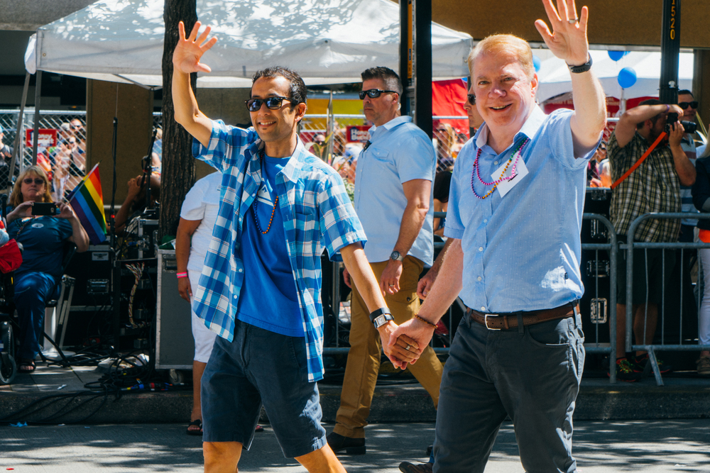 City of Seattle Mayor Ed Murray, best known for his work towards the progression of gay rights, and his husband, Michael Shiosaki.