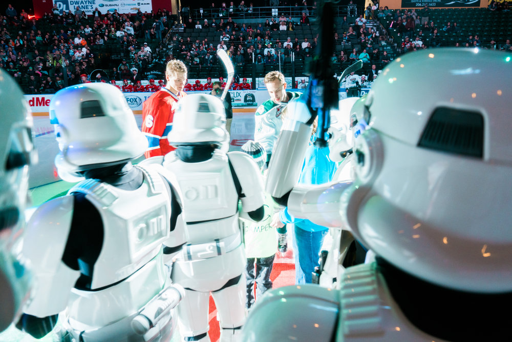 The 501st at the Everett Silvertips Hockey Game