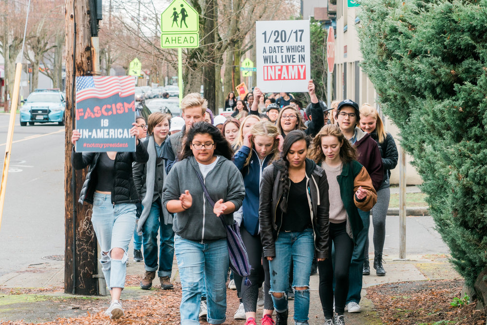 Inauguration Protests: West Seattle High & Madison Middle School Walkout