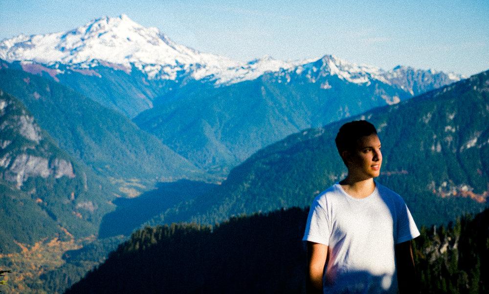 In front of Glacier Peak, WA.