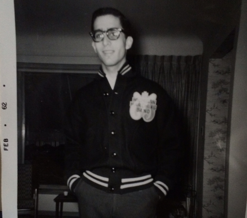 John Moses with University of Michigan Marching Band Jacket, 1962