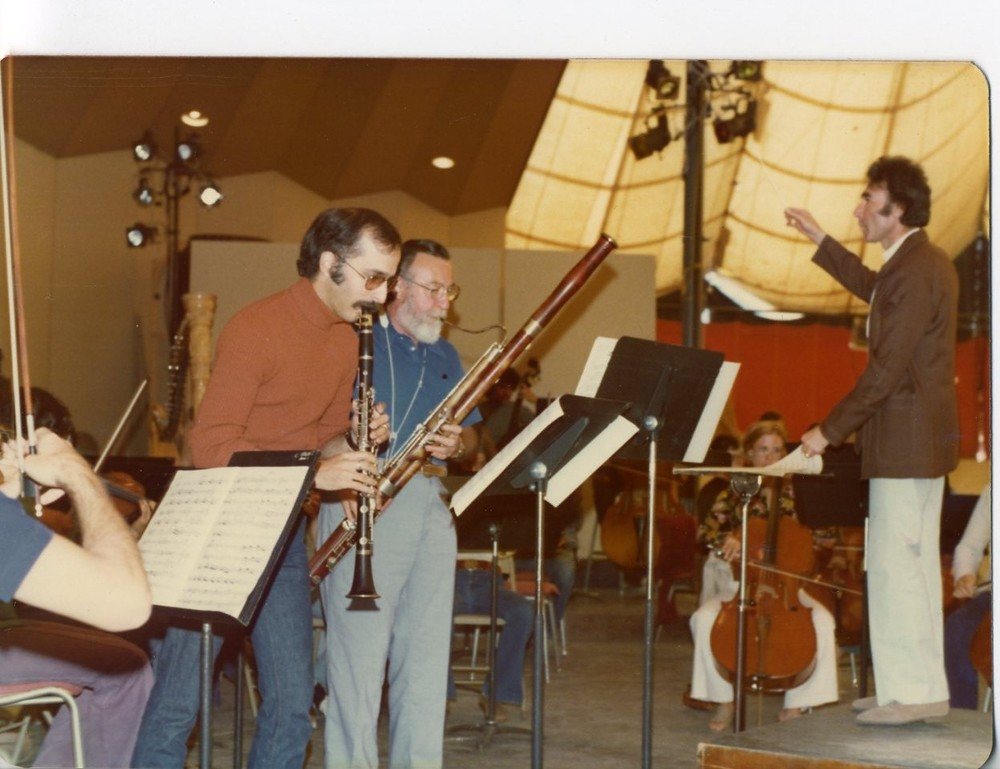 John Moses, clarinet, Leonard Sharrow, bassoon, and Sergiu Comissiona, conductor. Aspen 1975