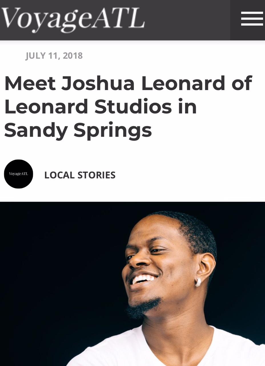 VoyageATL 2018 - http://voyageatl.com/interview/meet-joshua-leonard-leonard-studios-sandy-springs/