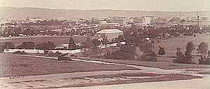 View over Adelaide Oval and Park Lands c1890.