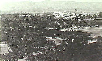 To the north-west city corner, across the Park Lands c1900.
