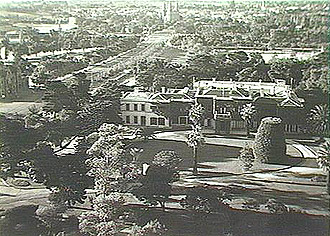 Park Lands looking north over Government House c1936.