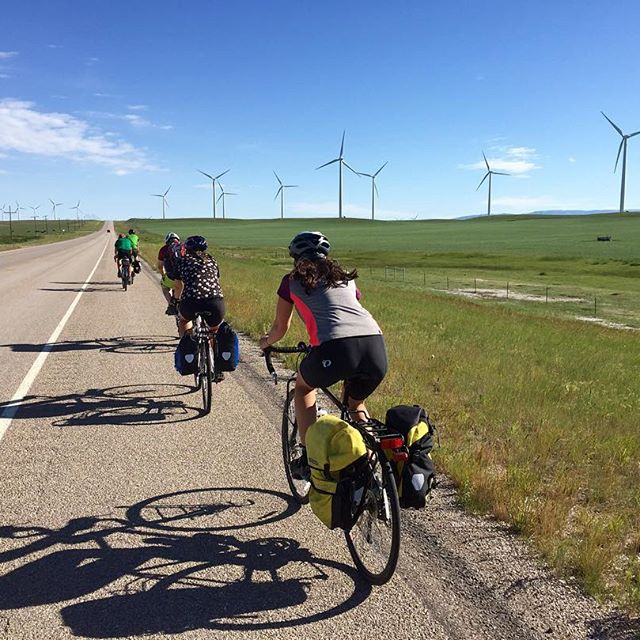 My friends from this summer's Cycle the Rockies course