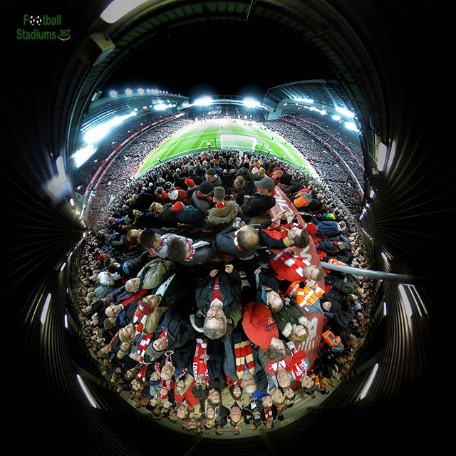 Got back from Liverpool after watching my relentless reds absolutely thrash Arsenal 5:1!! Couldn't have asked for a better Christmas gift. Here's my view from the #annieroadend . #YNWA . . . . . #tinyworld #tinyplanetbuff #360camera #lifein360 #liverpoolgram #lfcgram #tinyplanet #360tour #theta360official #theta360 #kuulapic #letsveer #novlogtoday #littleplanet #360view #360vr #virtualreality #marketinglife #uk_ig #scouse #germanreds #all_israel #stadiumview