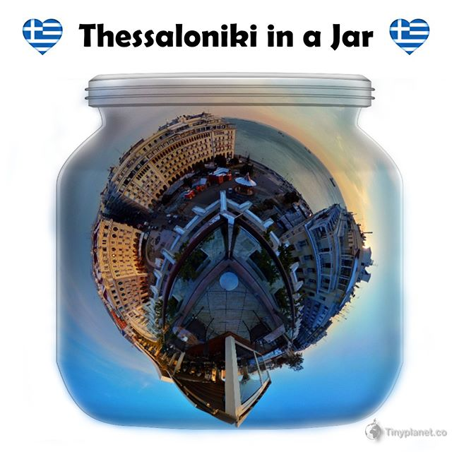 My #InaJar version of #aristoteloussquare in #Thessaloniki. Taken from the Electra Palace Hotel. . . . . #aristotelous  #skg #electramoments #αριστοτελους  #ig_thessaloniki  #saloniki  #ig_thessaloniki_ #skg_explorers #thessalonikicity #visitthessaloniki #θεσσαλονικημου  #igers_greece #meet_greece #theta360 #lifeis360 #wu_greece #gf_greece #ElectraPalaceThessaloniki #visitgreecegr  #salonica  #tinyplanetbuff #lifein360 #greece🇬🇷 #ελλαδα #ilovethessaloniki #greecelover