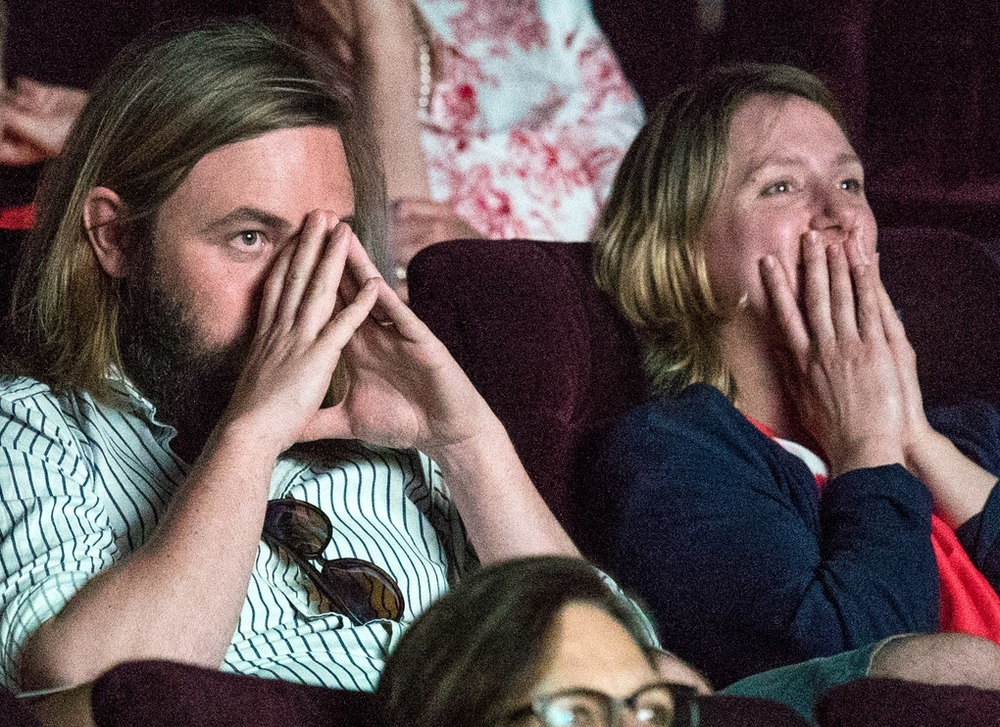 it's a healthy mix of joy and pain watching your film for the first time with a cinema audience - no matter how many times you've made straight 8's. and will and caroline have made a few...