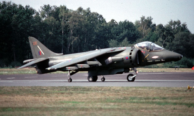 Harrier 5 ZD409/06 of 1 Sqn which started its career with the Harrier in 1969 (Author)