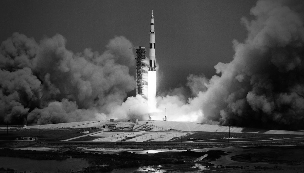 The launch of Apollo 16. (image courtesy NASA)