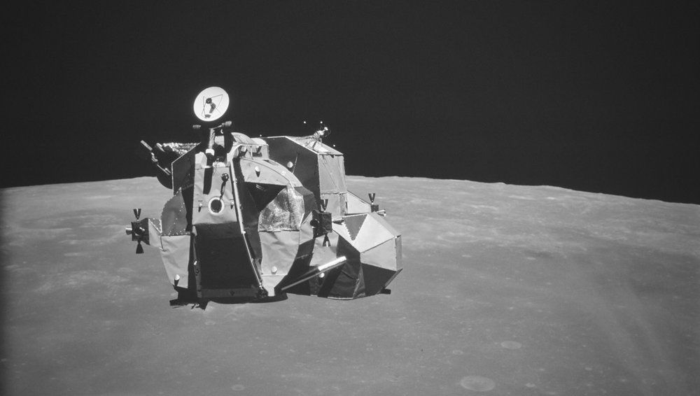The ascent stage of the Lunar Module. (image courtesy NASA)