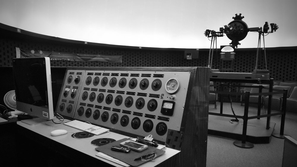 the controls of the Robert Wollman Planetarium