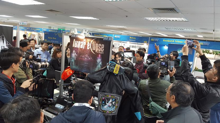 Our booth at the Taipei Games Show