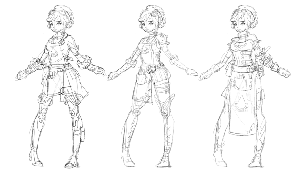 Some concepts of her clothings!