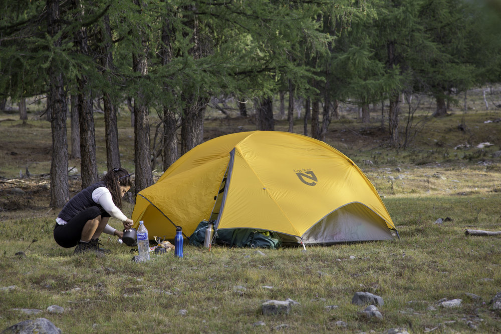 Camping on the edges of Khoton Lake - Tavan Bogd National Park - Mongolia