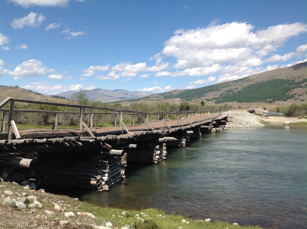 Crossing to the north west side of Khoton Lake - Tavan Bogd National Park - Mongolia
