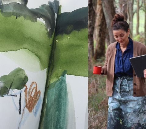 Jane Tangney will lead a painting session in the bush.