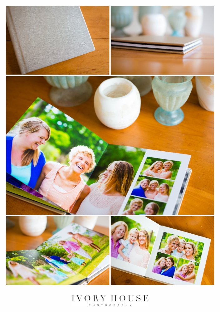 Ivory House Photography provide custom designed, retouched albums to all portrait and wedding clients.