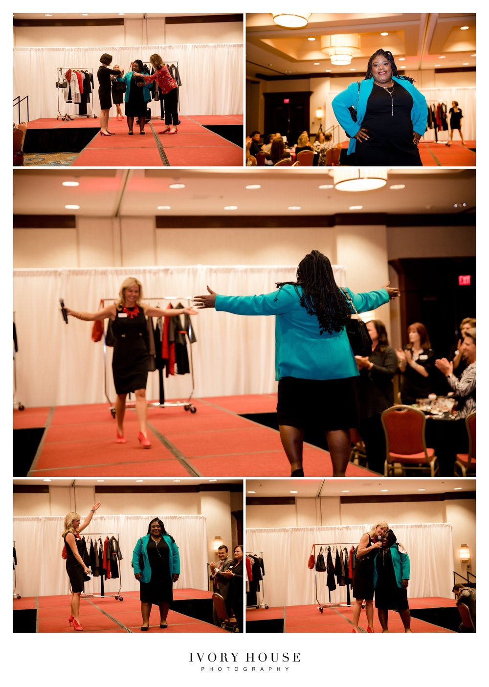 The women of Dress for Success did a live suiting on stage of the lovely Q, whom I'd met at the Economic Centet for Success' Dreambuilders Workshop. I can't wait to see how far she'll go!