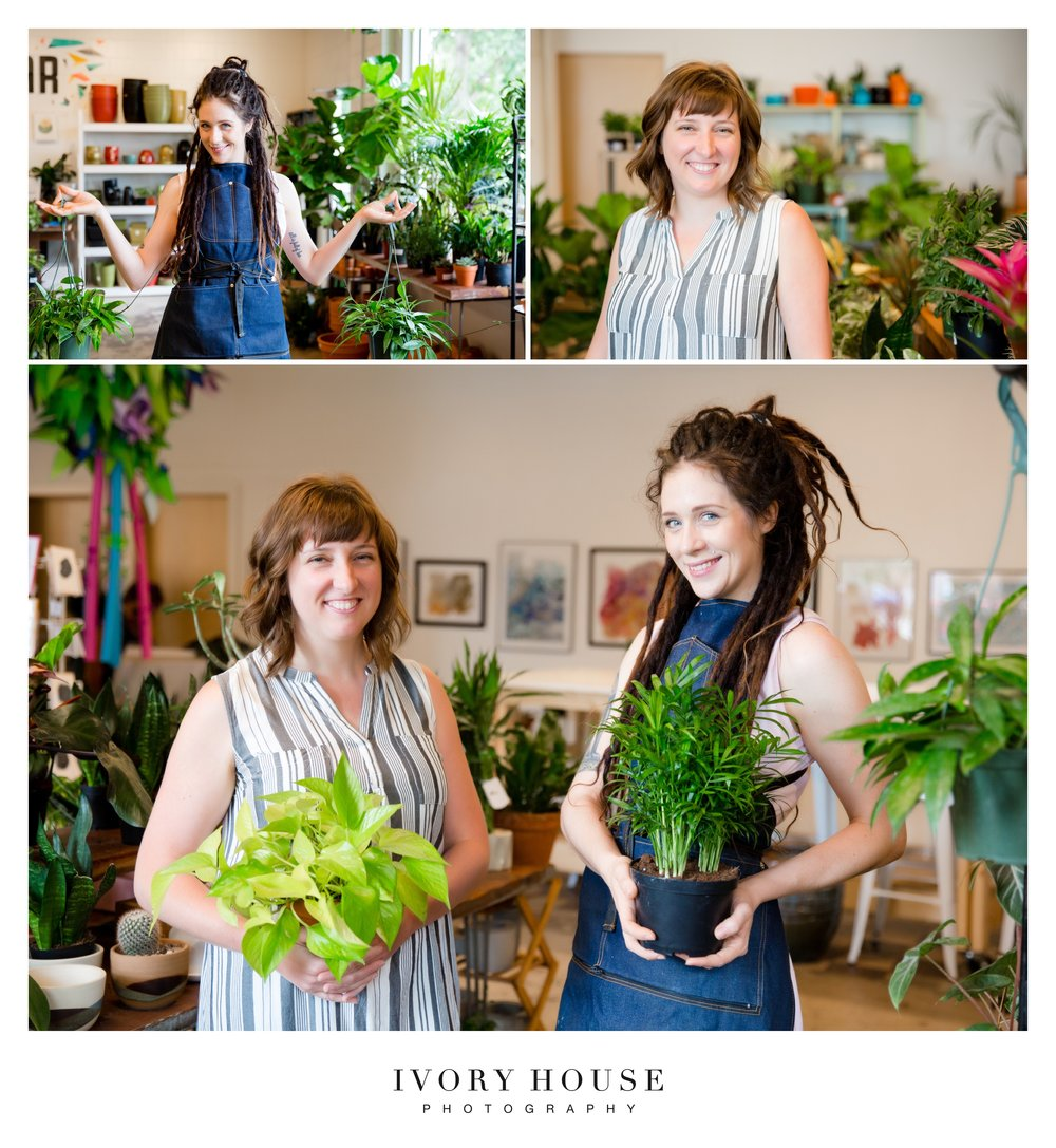 Pictured: Andrea Metzler, owner and Shylah, plant stylist at Art Terrarium.
