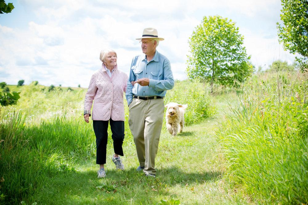 Buz and Sue Brenton and Brenton Arboretum