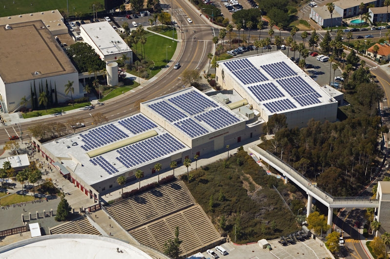 San Diego State University Aztec Recreation Center   Photo Credit: Sullivan Solar Power