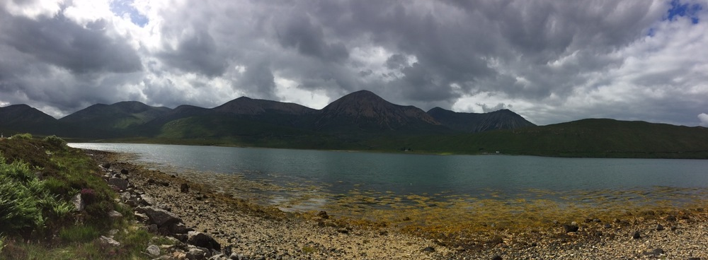 Loch Sligachan on the way to Portree on Isle of Sky
