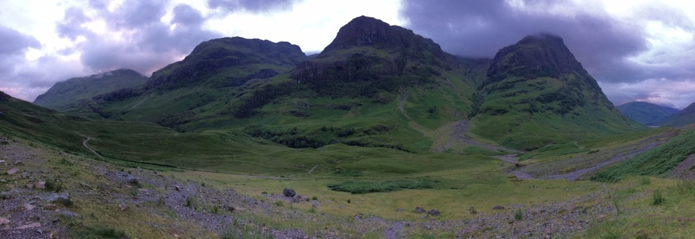 The Three Sisters mountain range at Glencoe