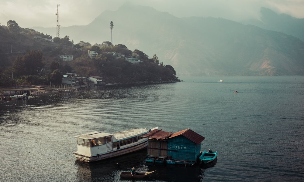 The view from our workshop, overlooking Lake atitlan, Guatemala