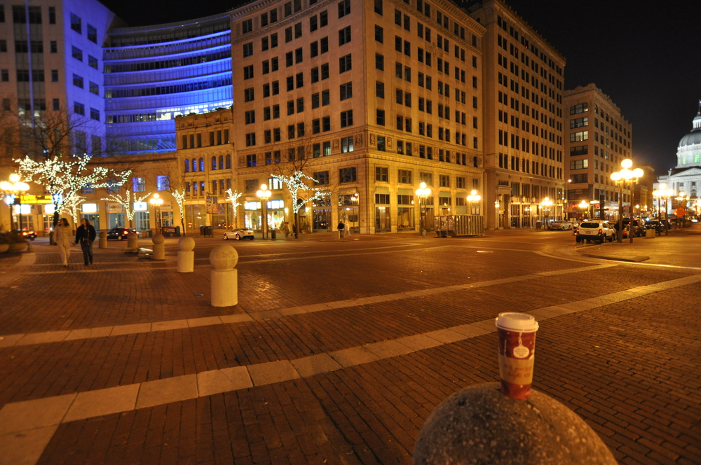 Monument Circle and West Market Street