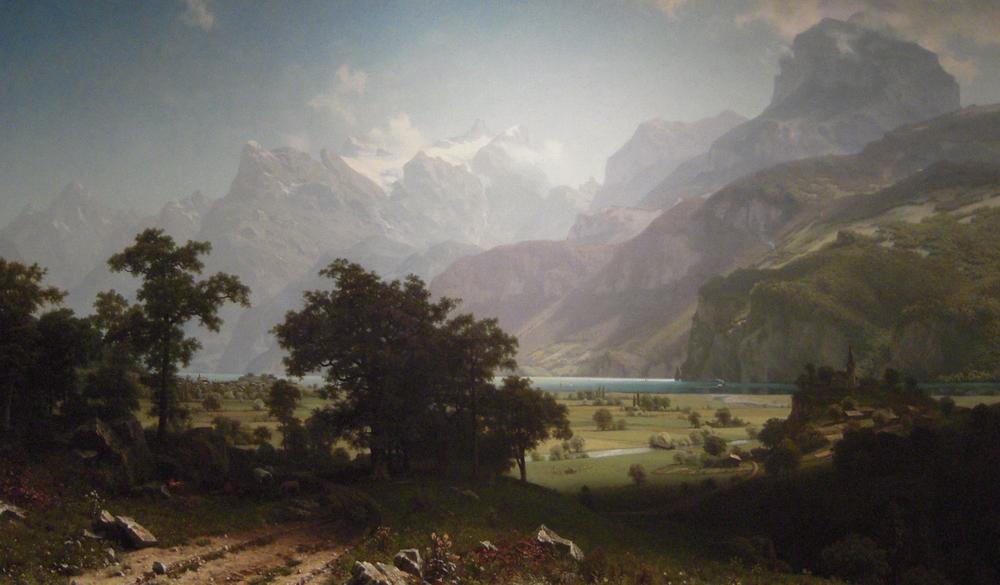 Lake Lucerne, Albert Bierstadt, 1858.