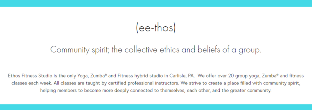 ethos fitness studio philosophy