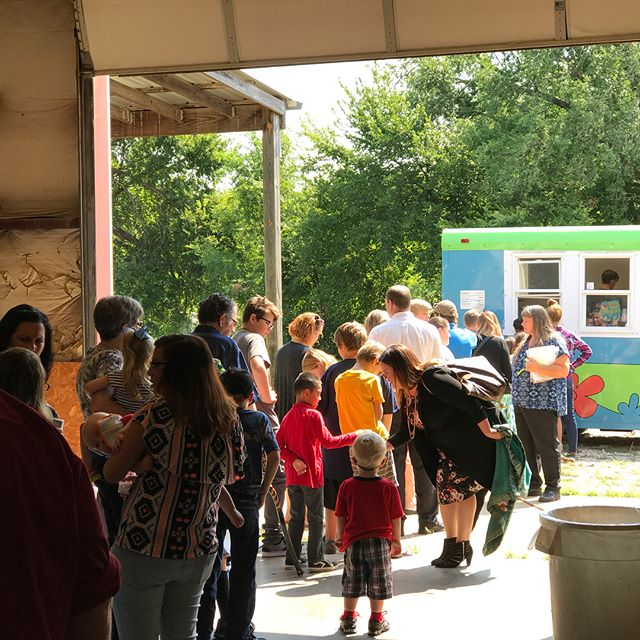 Had a surprise for this morning's Family Service - free snow-cones! Thank you, @macsscoobyshack!