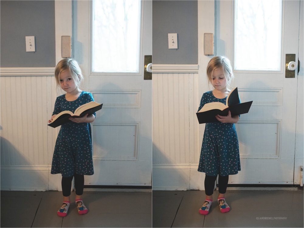 (The book was all her, her first day of school! And no, it's not a dictionary, it's actually the second book of the Twilight Series...)
