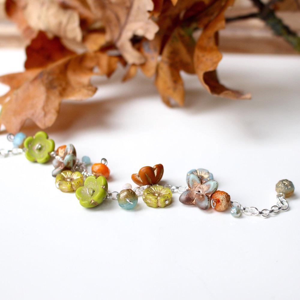 Oak and Lichen Bracelet by Nina Parker.