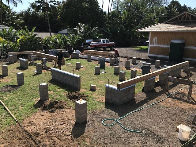 Ok we are back and ready to start chucking some wood.  Framing officially started yesterday and we should have the first floor deck sheathed on Monday.  Hope everyone had a great week and Aloha Friday! Can't wait to start pumping out some photos and stories of this build. . . . #kihei #maui #hawaii #architecture #engineering  #homebuilder #contractor #framing #designbuild #keepcraftalive #makena #wailea #rixey #design #designer #construction #halama #timber #customhome #rightbydabeach #mauirealestate #development #residential