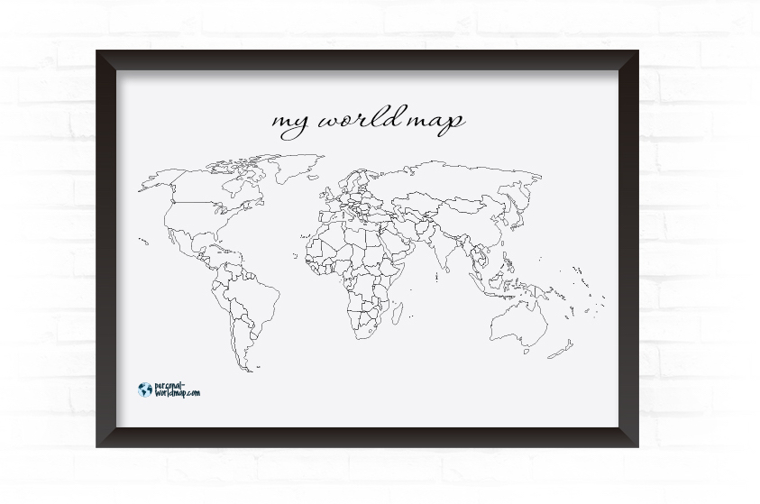 My travel map visited countries map travel map highlight and design and order your personal travel map in our product designer gumiabroncs
