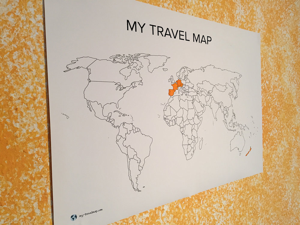 My Travel Map Visited Countries Map Travel Map Highlight And - Create my travel map
