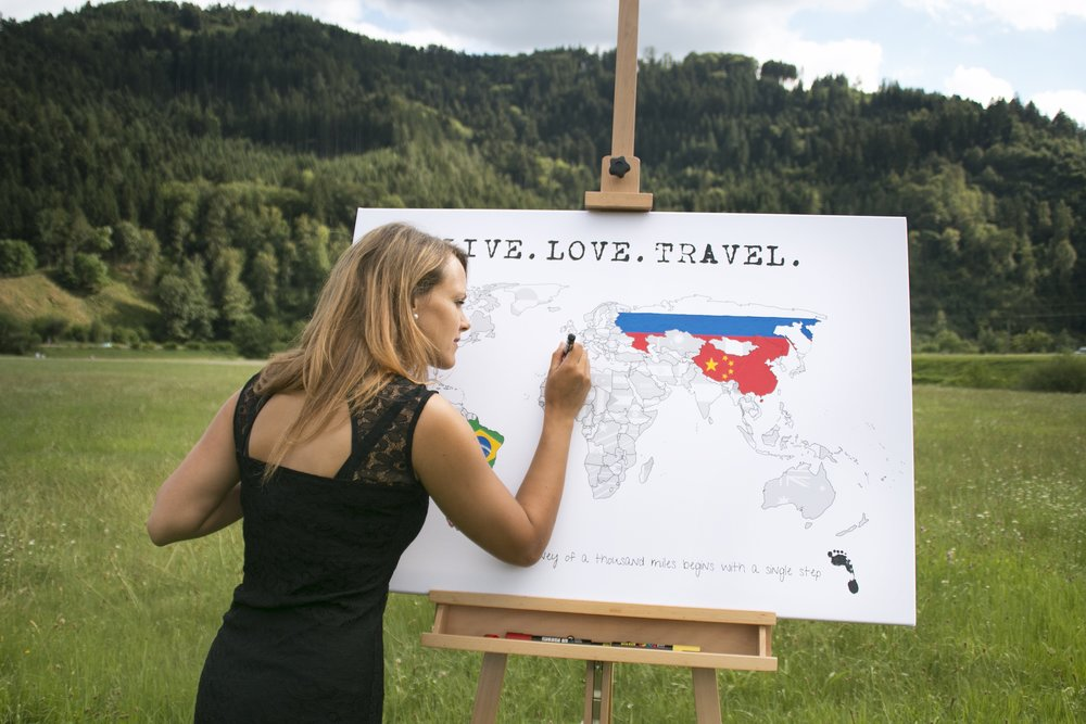 My Travel Map Visited Countries Map Travel Map Highlight And - Scratch off us state maps with pencil