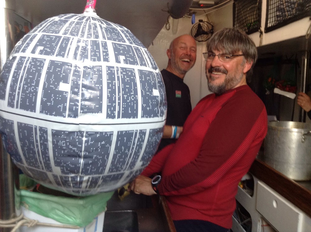 Austin and Craig in the galley with Death Star