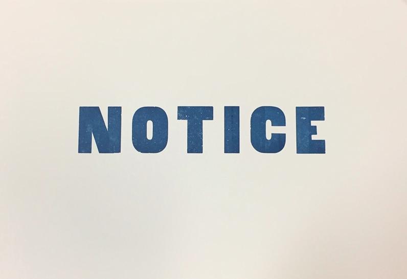 """Notice,"" Lois Harada, 2017."