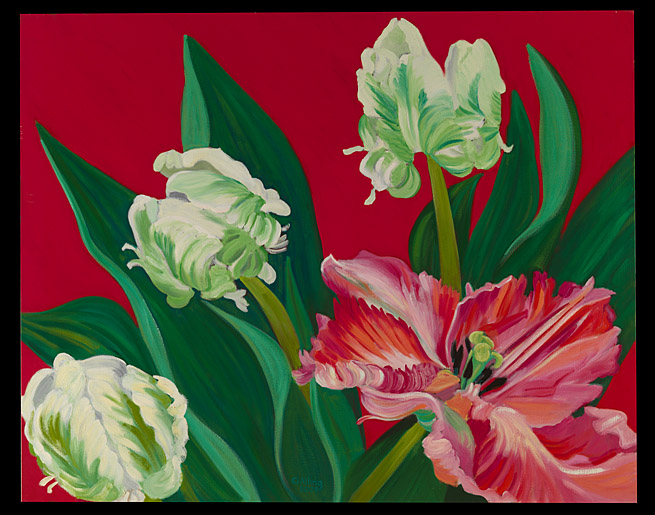 """Red Backed Parrot Tulips,"" 2003"