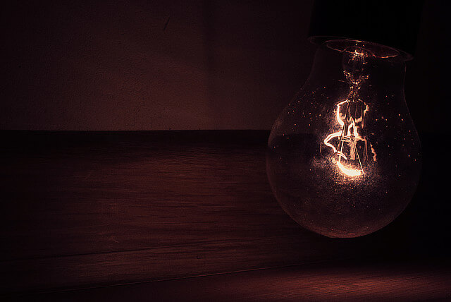 old lightbulb going dim